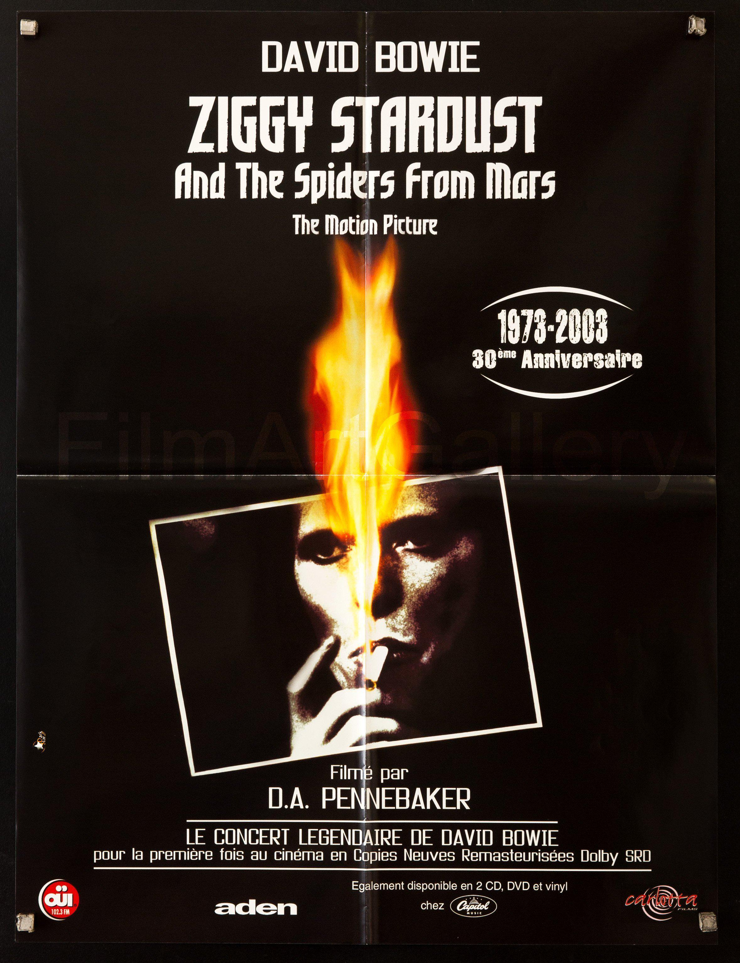 Ziggy Stardust French small (23x32) Original Vintage Movie Poster