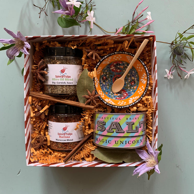 Gift Box: Harissa + Olive Oil Blend + Magic Unicorn