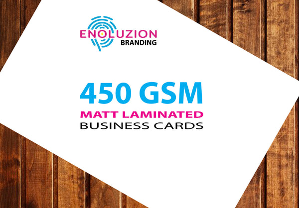 Business Cards - 450gsm Matt Laminated Gig (UK Delivery Only)