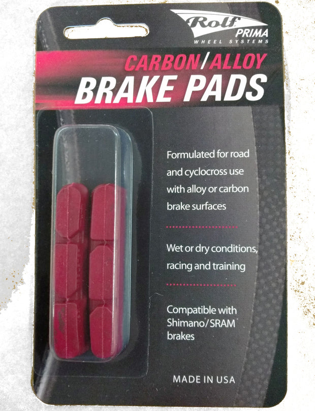 SALE! Rolf Prima Brake Pads - Red Shimano