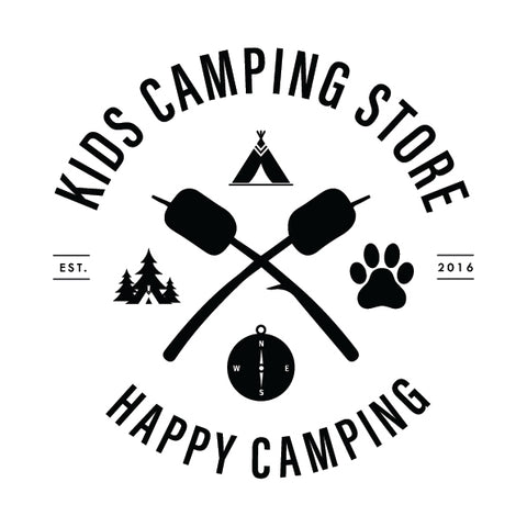 "Kids Camping Store ""Happy Camping"" Logo"