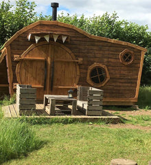 "Photo of a ""Hobbit House"" at The Hideaway @ Baxby Manor, on Kids Camping Store"