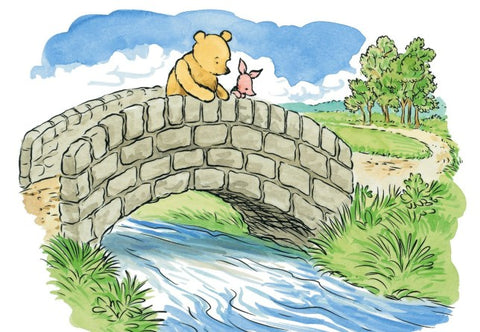 Pooh Sticks; a classic camping game for children
