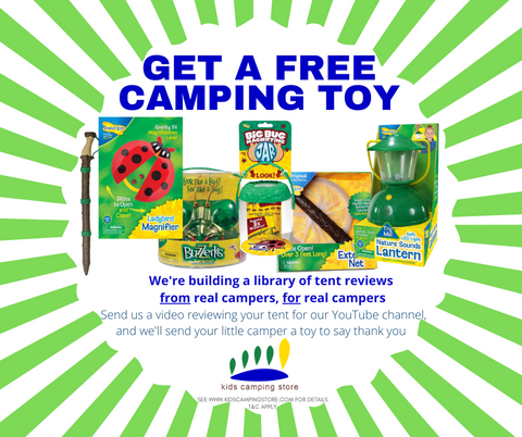 Kids Camping Store's Camping Toys Giveaway Promo