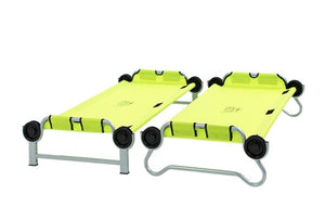 Kid O Bunk bunk beds for children to sleep on when camping, at Kids Camping Store as two single beds