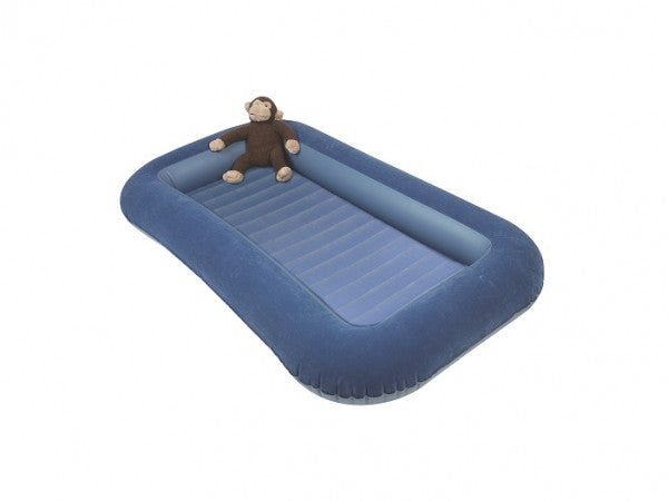 Junior Air Bed with Raised Sides (120cm long sleeping area) Blue - Kids Camping Store