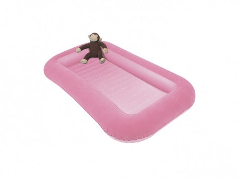 Children's Camping Air Bed with Raised Sides (120cm long sleeping area) Pink - Kids Camping Store