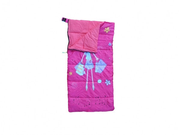 """Shopping Mad"" Childrens Sleeping Bag (150cm long) from Kids Camping Store"