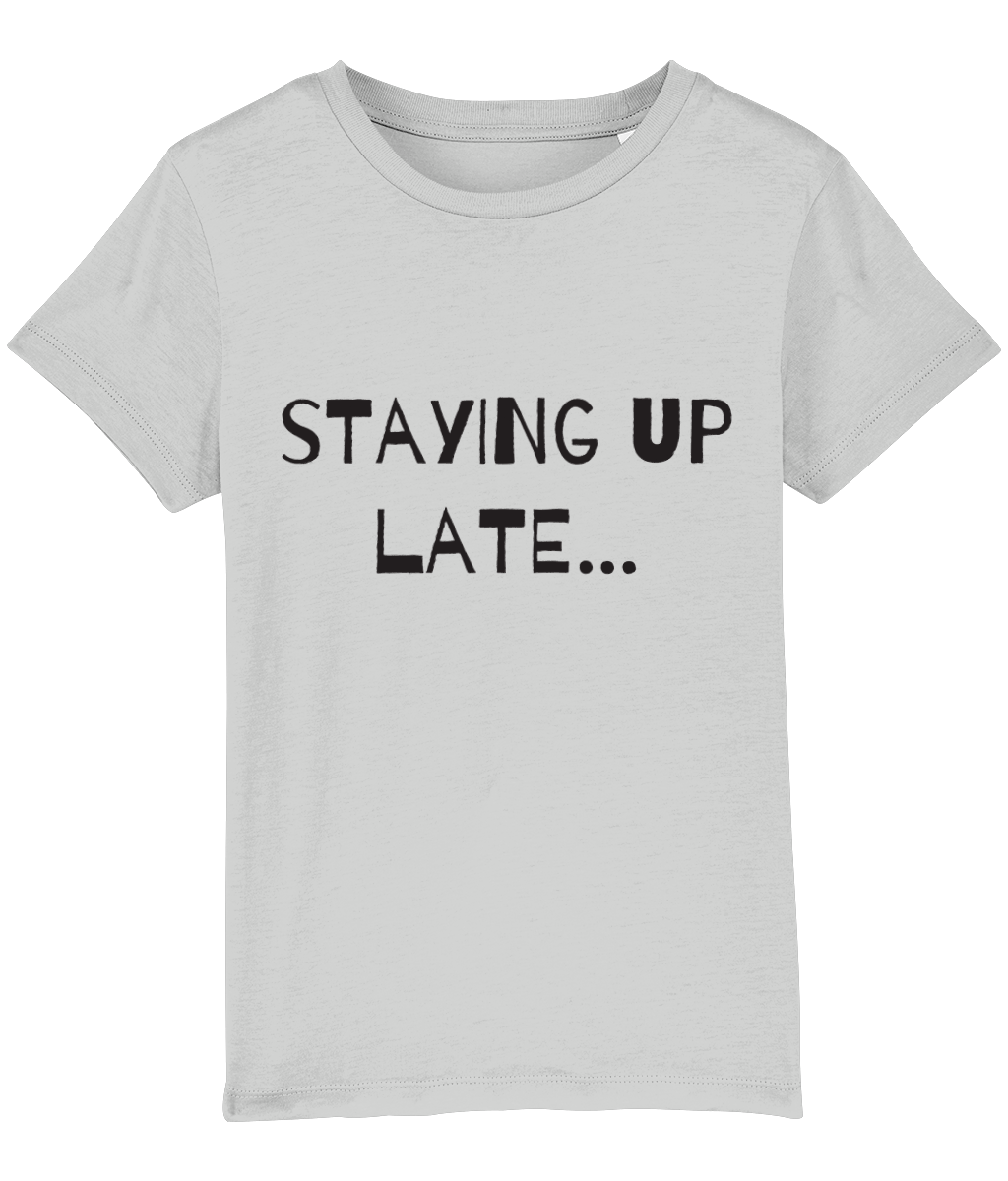 """Staying up late...waking up early"" 2-Sided Kids Camping T-Shirt"