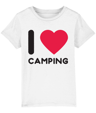 "Load image into Gallery viewer, ""I ❤ Camping"" Kids Camping T-Shirt"