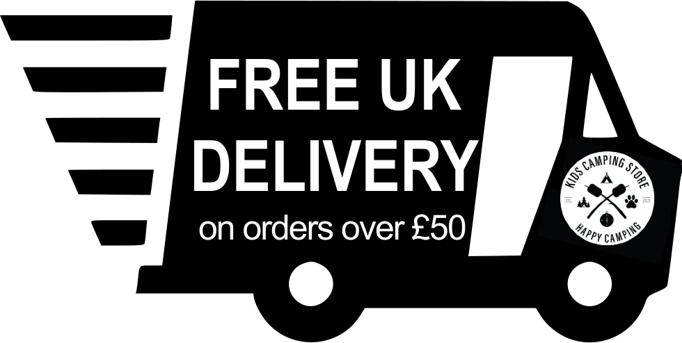Free UK delivery on all children's camping equipment orders over £50