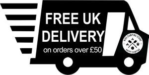 Truck showing free delivery for orders over £50 from Kids Camping Store