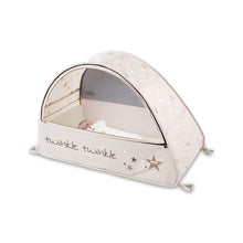 Load image into Gallery viewer, Baby in Sun & Sleep Pop Up Travel & Camping Cot, from Kids Camping Store