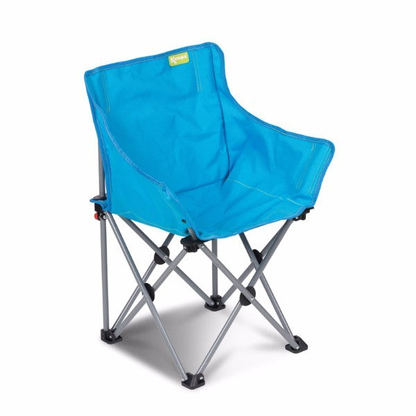 Blue folding children's camping chair, at Kids Camping Store