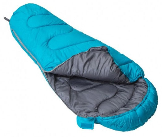 Vango Atlas Junior Children's Sleeping Bag in Bondi Blue laid open