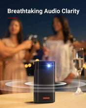 Load image into Gallery viewer, Anker Nebula Apollo Projector for Camping showing sound emitting