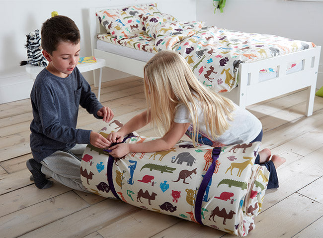 Kids Rolling Up Dinky Duvalay, Childrens Luxury Camping Bed, at Kids Camping Store