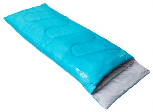 Vango Ember Square Shape Junior Children's Sleeping Bag in Bondi Blue