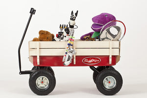 View of full Retro Toby Wagon (Festival Trolley) for Children at camping festivals and events, from Kids Camping Store