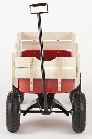 Front view of Retro Toby Wagon (Festival Trolley) for Children at camping festivals and events, from Kids Camping Store