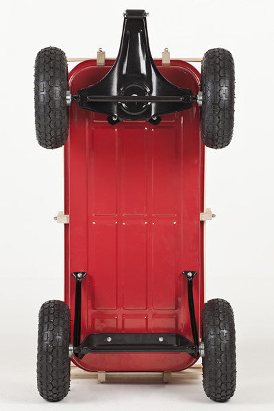 Bottom view of Retro Toby Wagon (Festival Trolley) for Children at camping festivals and events, from Kids Camping Store