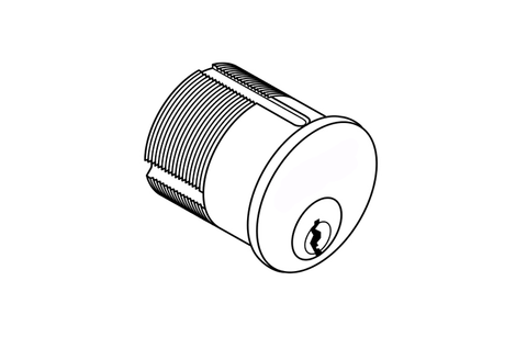 "Medeco 1-1/8"" Mortise Cylinder DL Keyway"