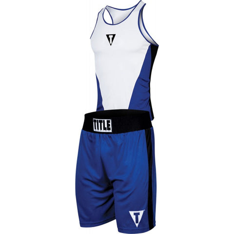 "TITLE AEROVENT ELITE AMATEUR BOXING ""SET 3"" BLUE/WHITE - Casanova Boxing USA"