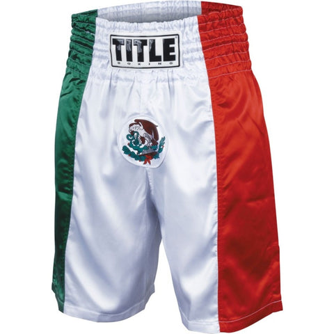 TITLE MEXICAN FLAG BOXING TRUNKS