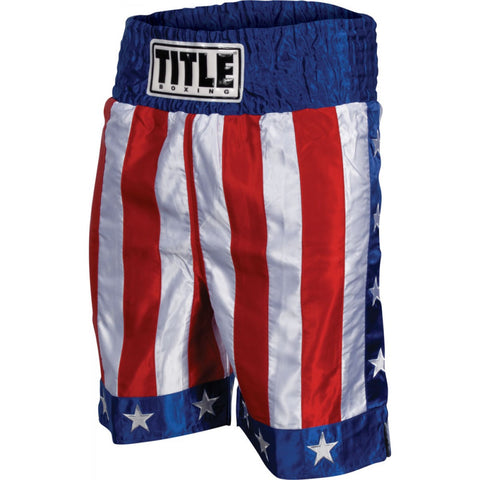 TITLE AMERICAN FLAG BOXING TRUNKS - Casanova Boxing USA