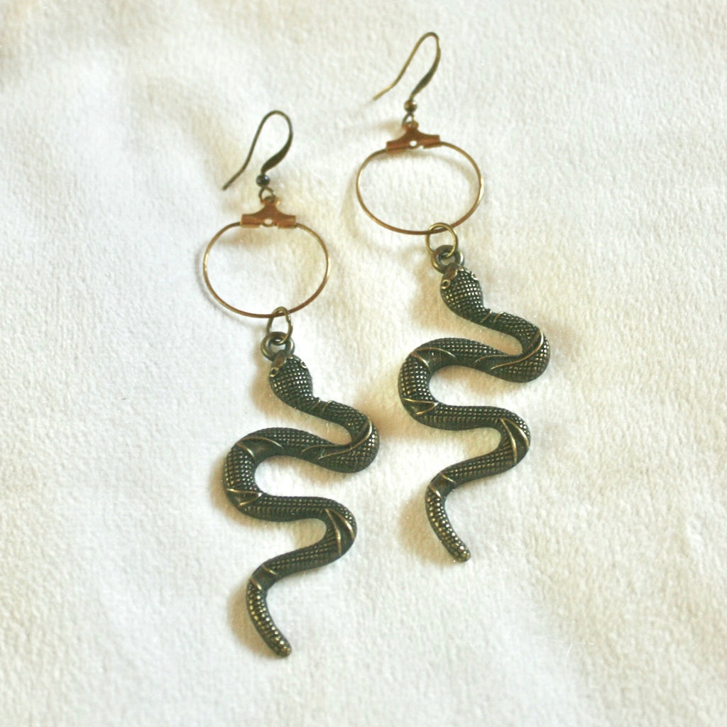 Charmed Earrings in Bronze