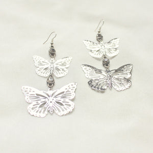 Faded Romance Earrings in Silver