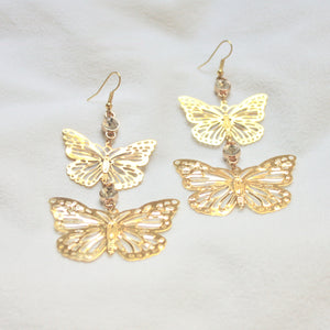 Faded Romance Earrings in Gold