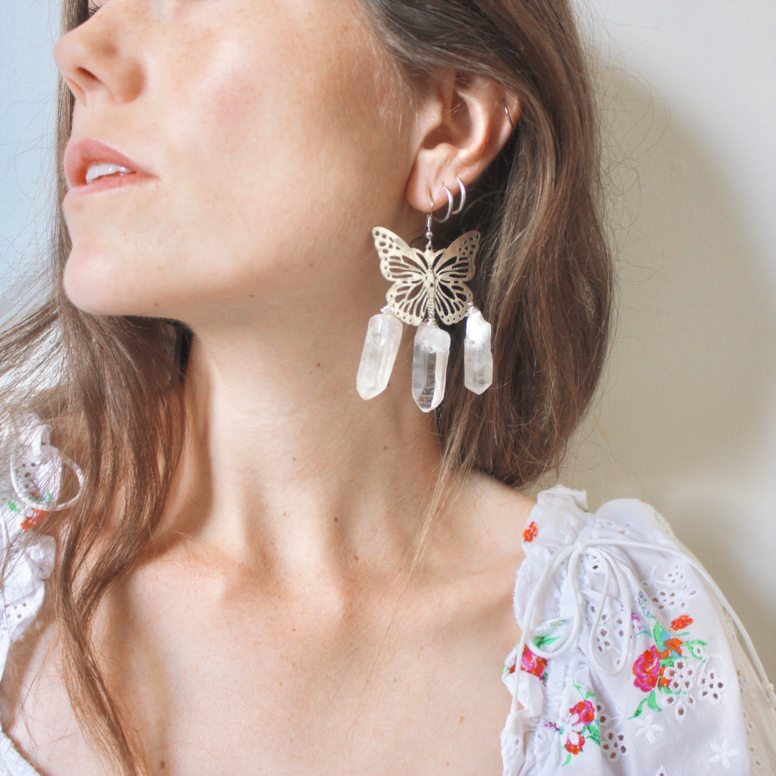 Forget Me Not Earrings in Silver