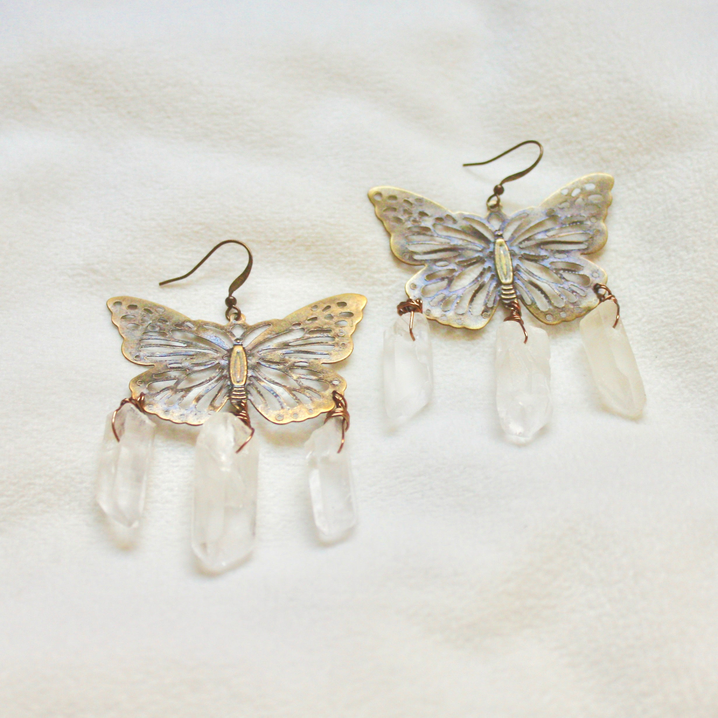 Forget Me Not Earrings in Bronze