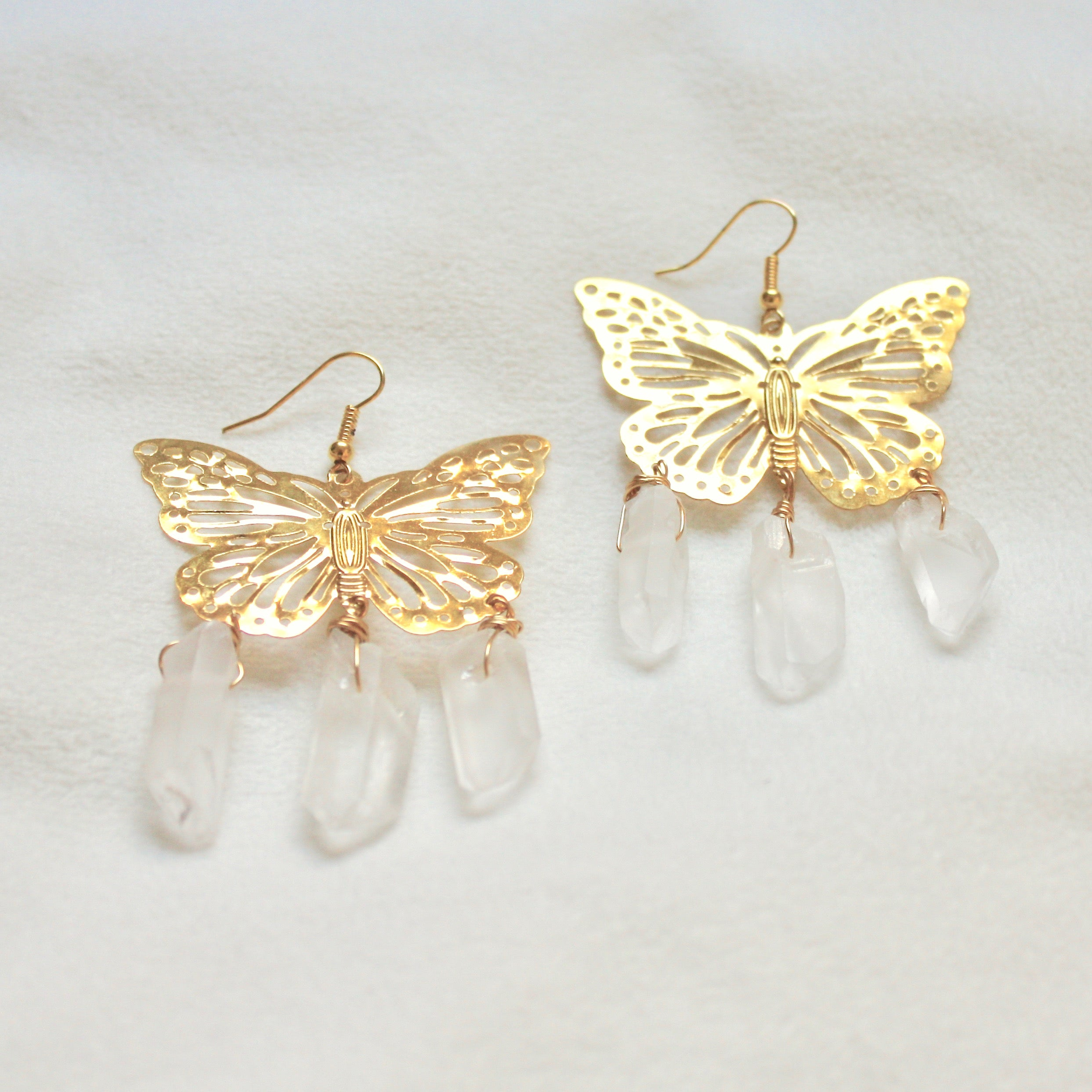 Forget Me Not Earrings in Gold