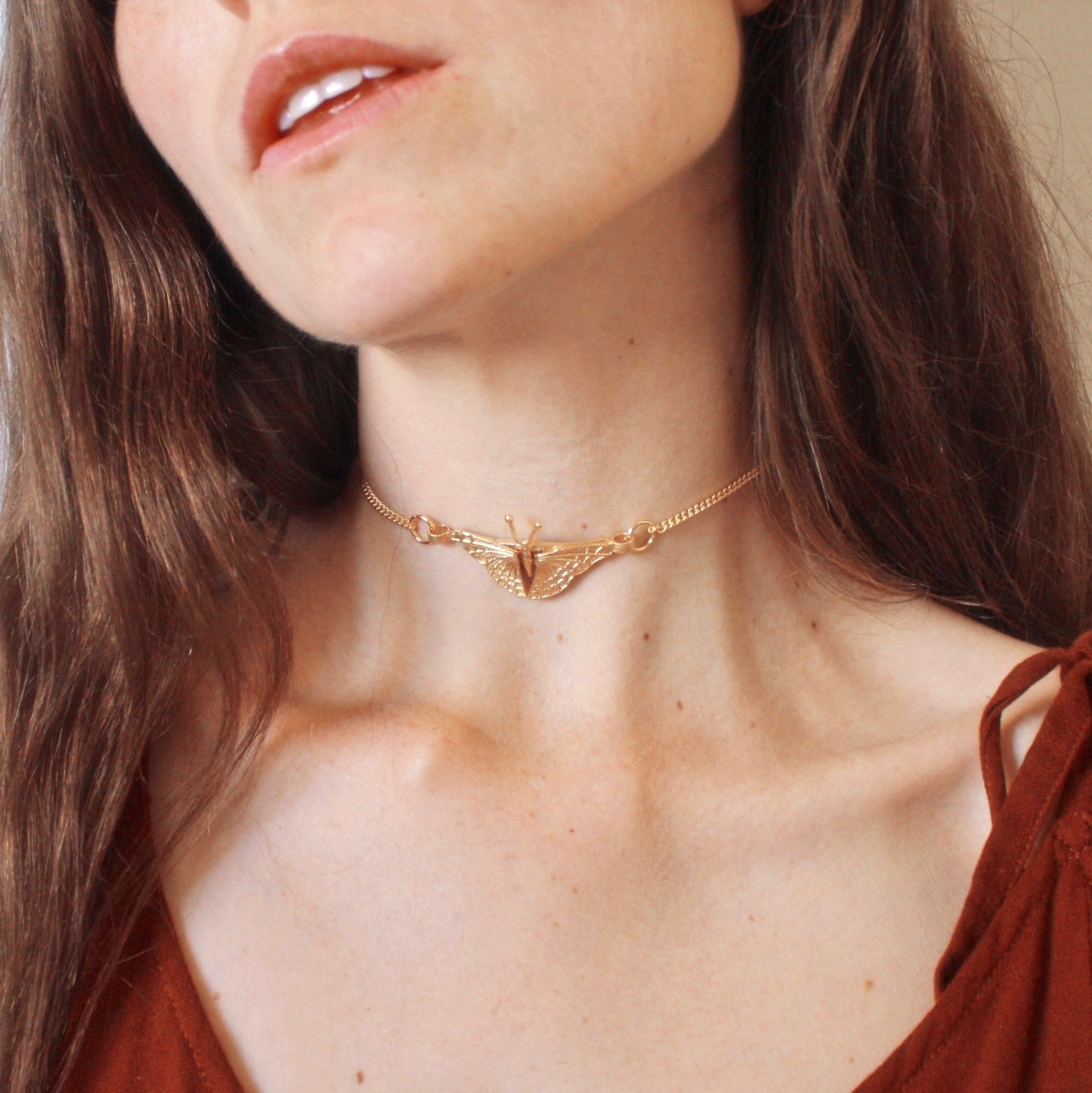 Happiness is a Butterfly Choker in Gold