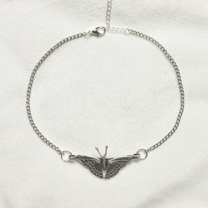 Happiness is a Butterfly Choker in Silver