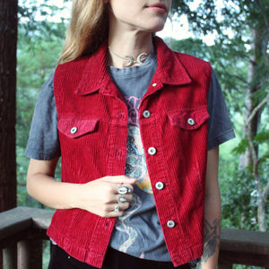 You're Glowing Vest in Red  - Size M