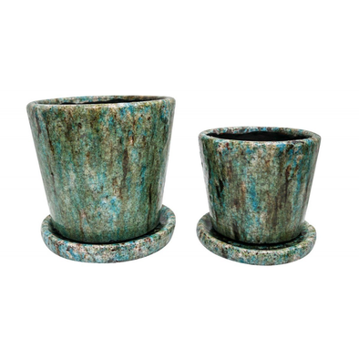 Ocean Set of 2 Pots With Tray