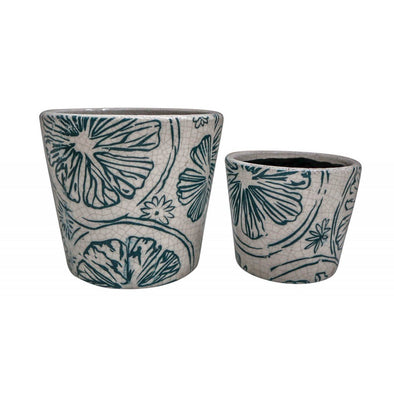 Citrus Set of 2 Planters