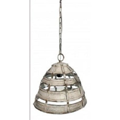 Metal Cage Light - Rustic White