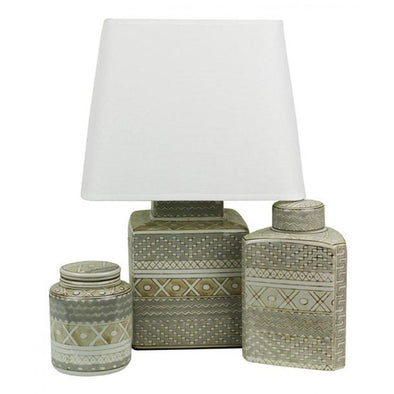Table Lamp with Ceramic Base and Shade