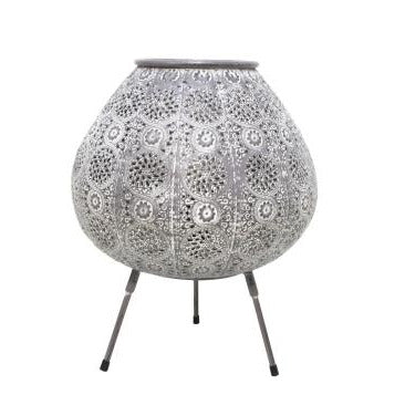 Aabida Pressed Metal Lamp - White Wash