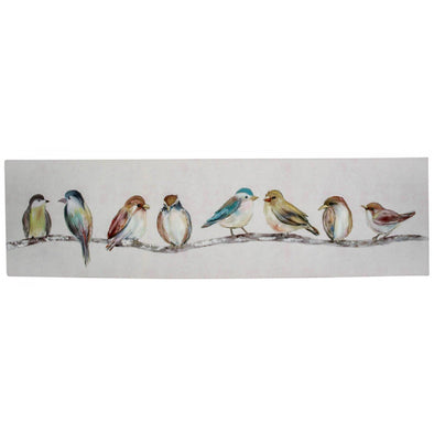 Birds In A Row Canvas