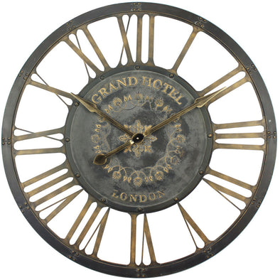 Iron Grand Hotel Wall Clock