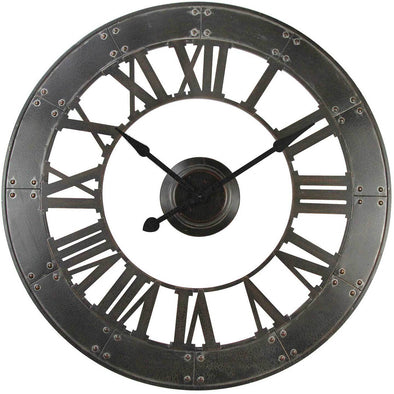 Iron Wall Clock Black Hands