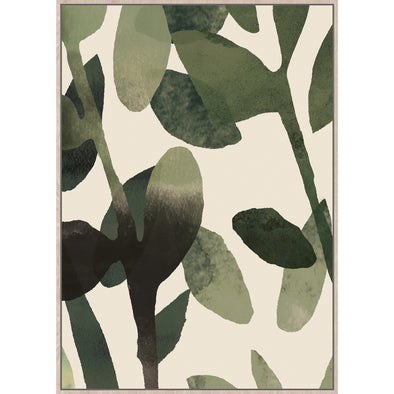Olive Framed Canvas Print
