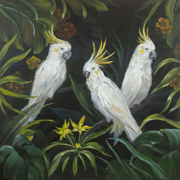 Cockatoos Oil Painting