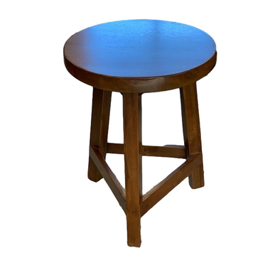 Round Wooden 3 Legged Stool