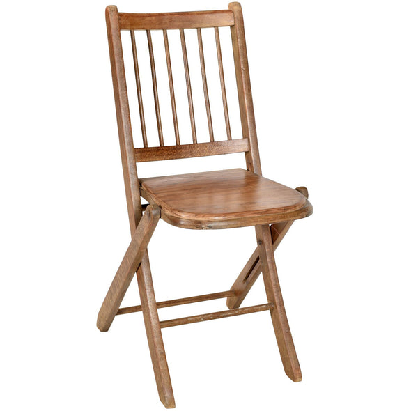 Wooden Folding Chair - Natural
